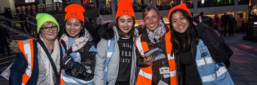 Volunteers at Lumiere