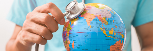 Image showing stethoscope on a globe