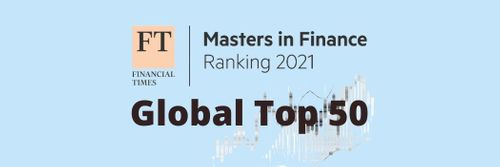 Masters in Finance Ranking 2021, Global Top 50