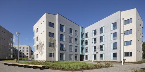 External shot of accommodation block