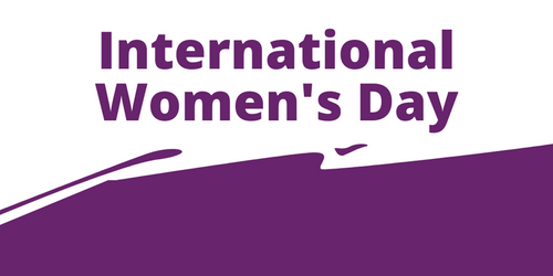 An image of the words International Women's Day
