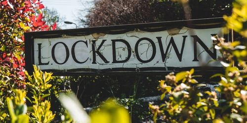 A road sign that says Lockdown