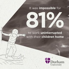infographic depicting the statistic it was impossible for 81% to work uninterrupted with their children home