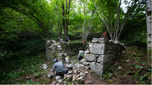 Excavating the Tomić camp, September 2020