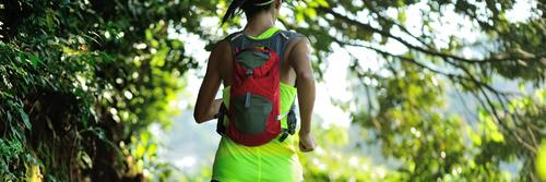 A woman running an ultra marathon