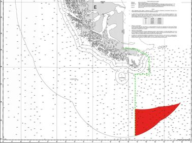 Chile's Nautical Chart 8, as annotated by Daniel Filmus of the Argentine Foreign Ministry