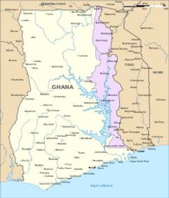 Ghana Togo Map