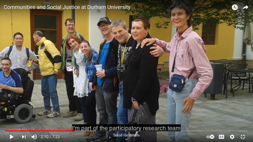 Communities and Social Justice at Durham University YouTube Screenshot