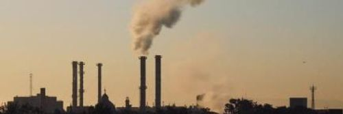 Industrial Pollution emitting from chimneys