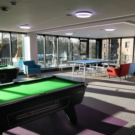 Pool table in the Junior Common Room