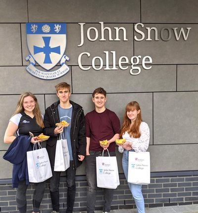 Students outside John Snow College
