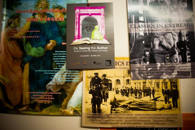 A collection of posters from the Classics and Ancient History department