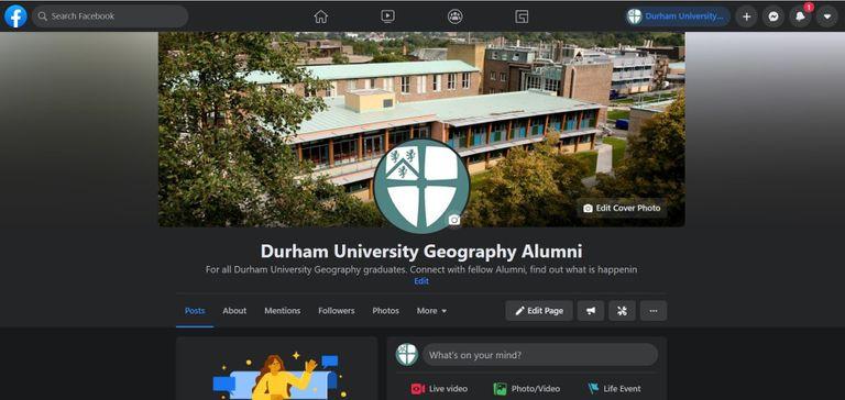Screenshot of Alumni Facebook Page
