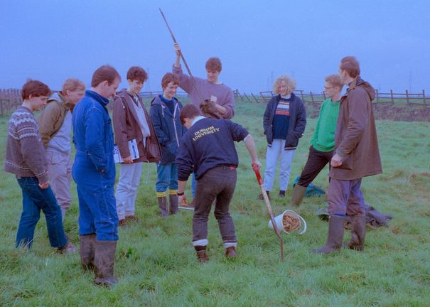 Field Trip Sampling peat profiles (with Michael Tooley) 1980s