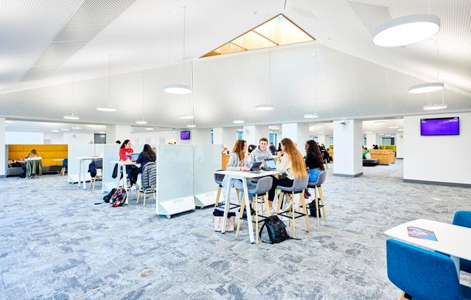 Students studying in the Teaching and Learning Centre