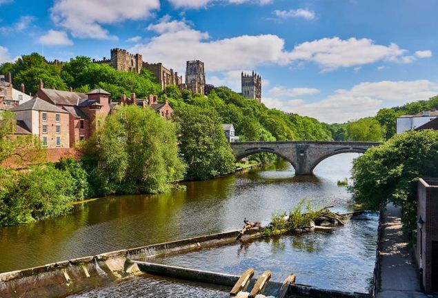 Durham river and Cathedral view