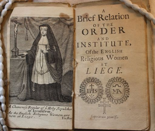 An old religious open book