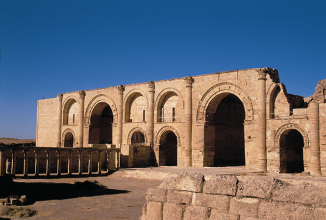 A photograph of ancient archways