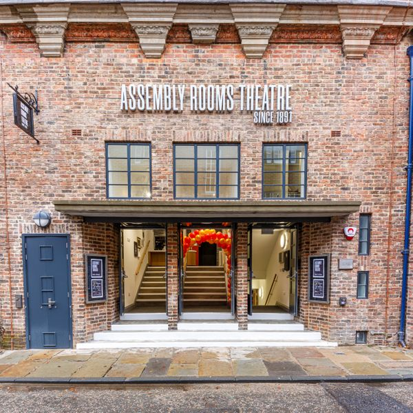 Open doors leading into the Assembly Rooms Theatre