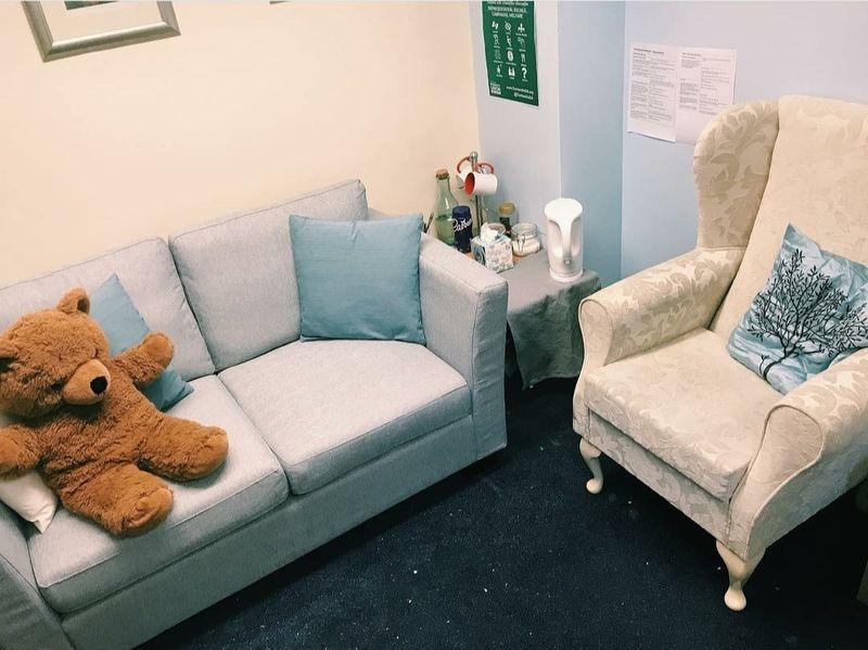 Armchair and sofa with teddy