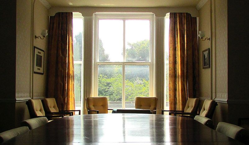 The Bailey Senior Common Room with natural light coming through the large window.