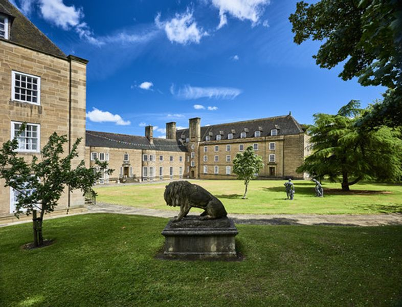 St Mary's College grounds and statues