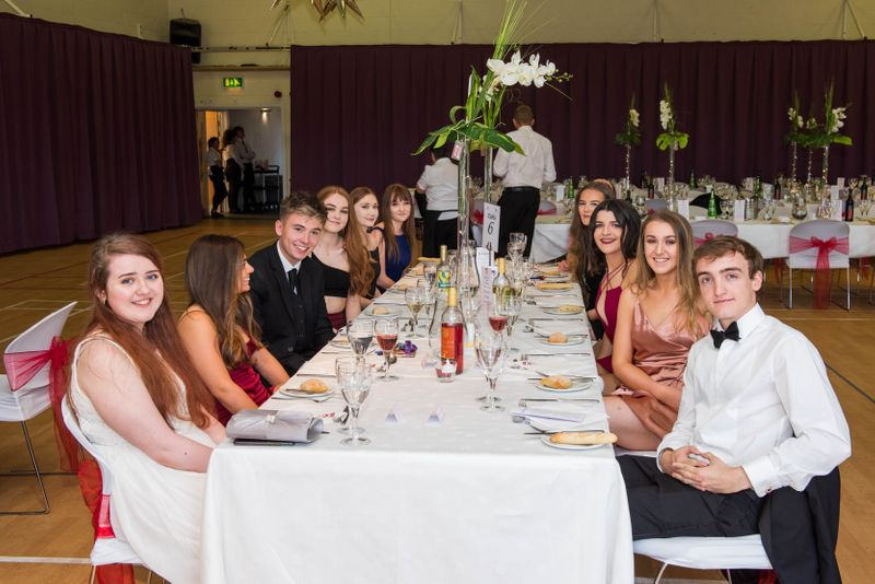 Group of students at a Formal Dinner