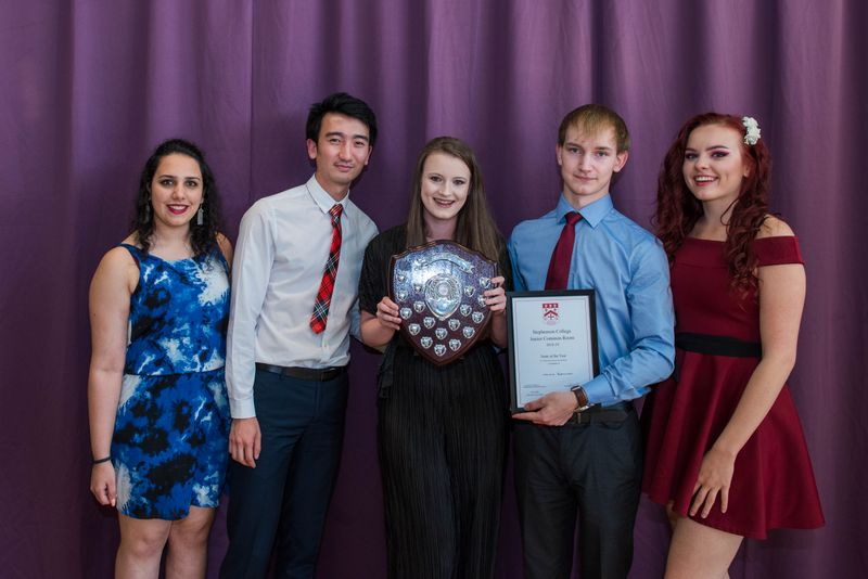 Students with their awards at the Handover Dinner