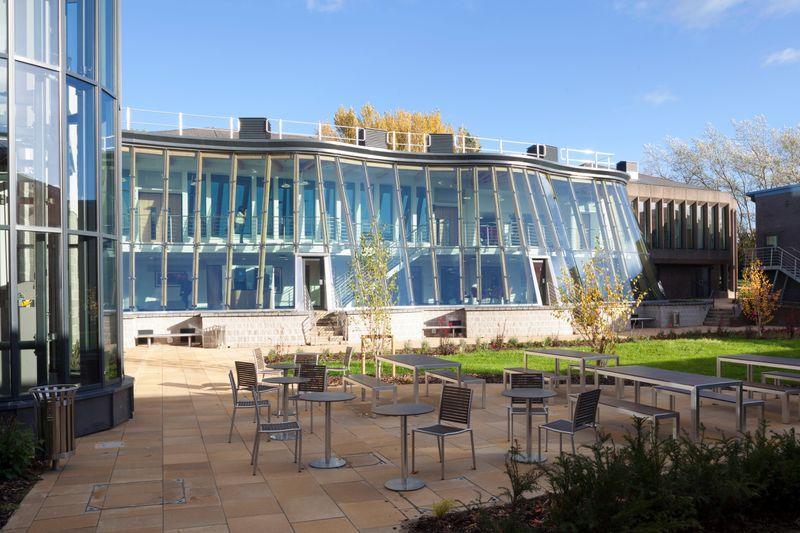 An external shot of the Business School building