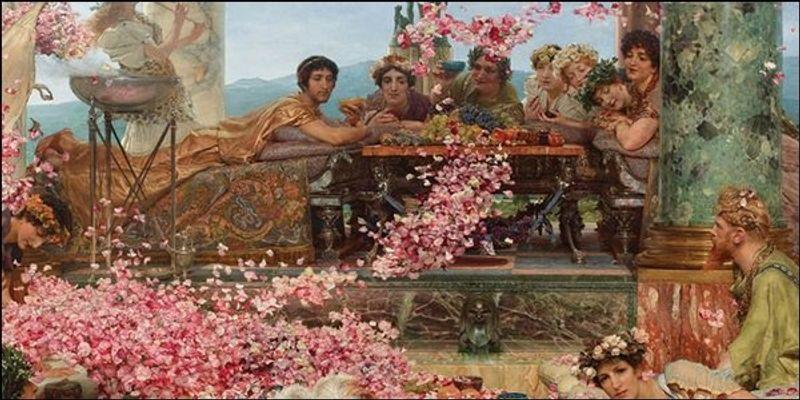 Renaissance artwork of a roman reception