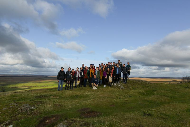 Group photo of the Classics Society at Hadrian's Wall