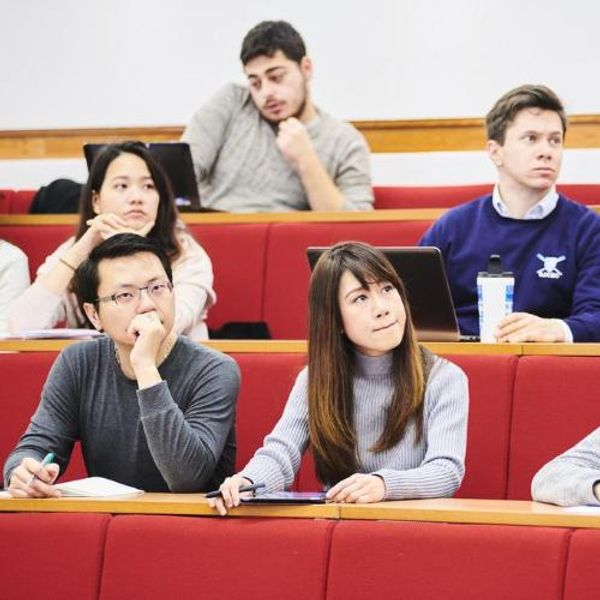 A group of students in a lecture hall
