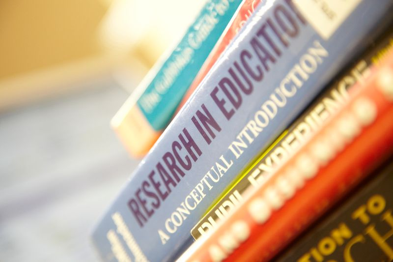 Stack of Education books