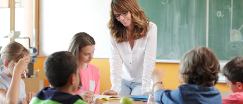 Female teacher in class