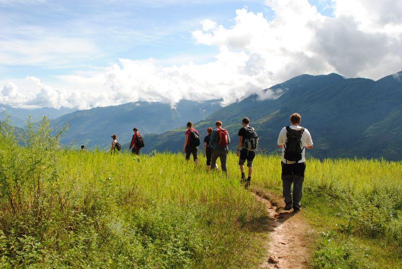 Students on Nepal fieldtrip