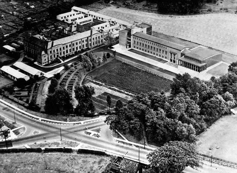 Aerial View of Geography Campus 1950s