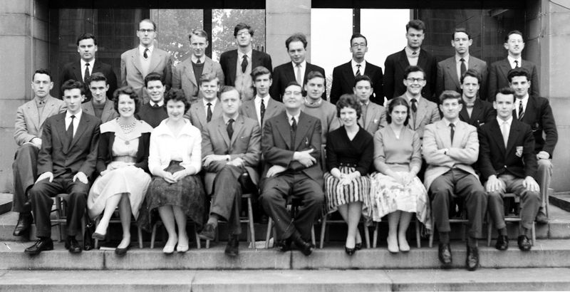 Geography Department Undergraduate Group photo from 1960