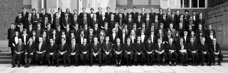 Geography Department Undergraduate Group photo from 1970