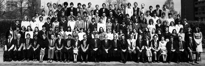 Geography Department Undergraduate Group photo from 1980