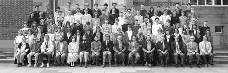 Geography Department Undergraduate Group photo from 1990