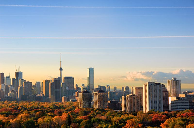 A view over Toronto in autumn