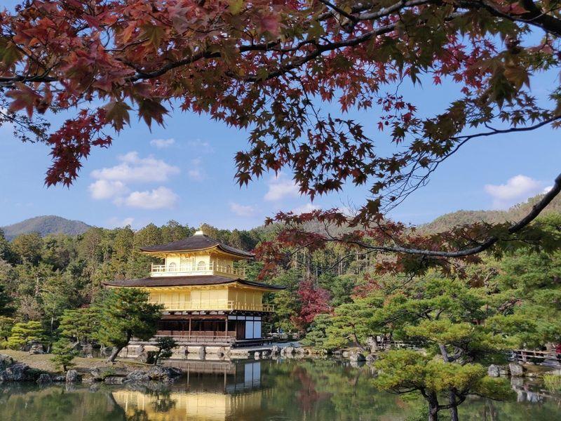 Sun on the pavilion, Kyoto, Japan