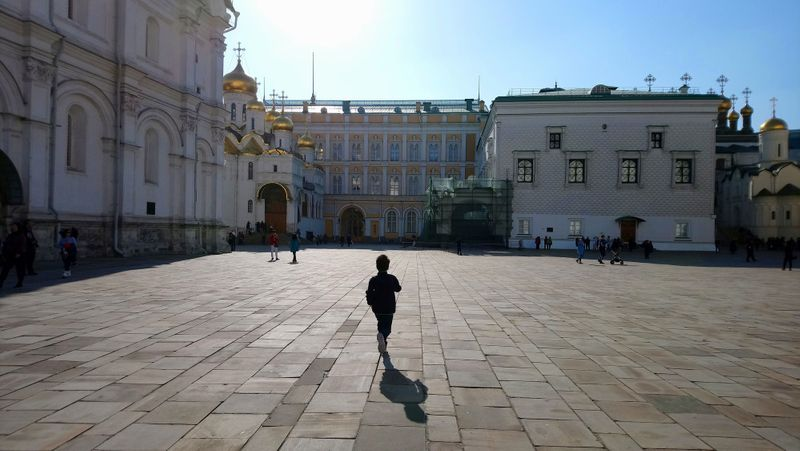 Sobornaya Square or Cathedral Square is the central square of the Moscow Kremlin