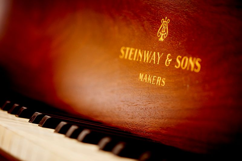A Steinway & Sons piano
