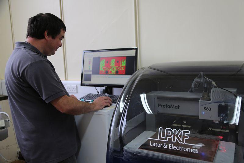 EES Technician operating equipment