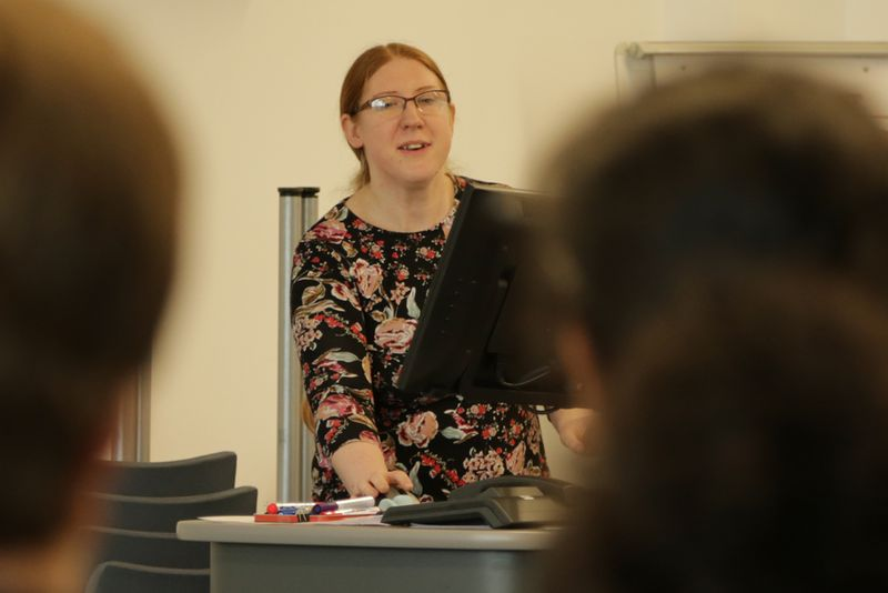 Image of Beth Bromley addressing a meeting