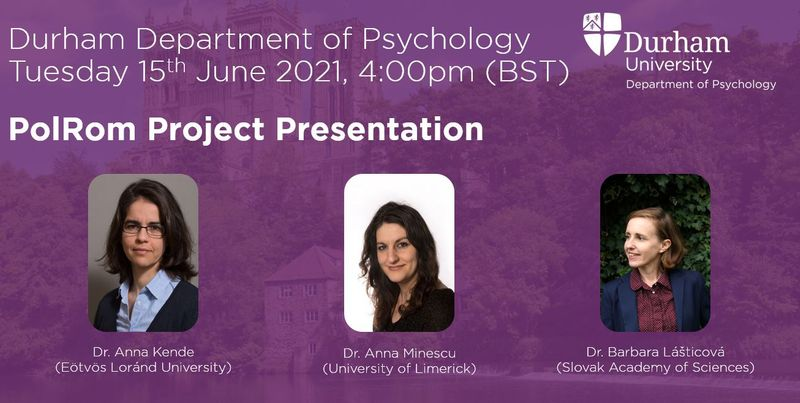 Presentation information with date, time and speakers