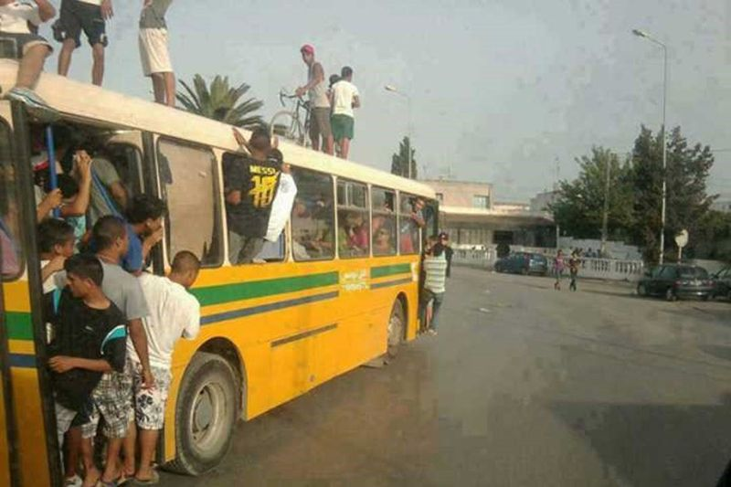A crowded bus in Africa