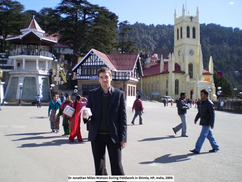 Dr Jonathan Miles-Watson during fieldwork in Shimla, India, 2009