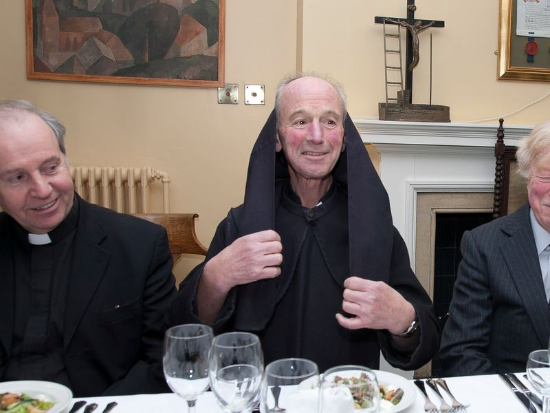 Visiting priests and vicars enjoying a dinner gathering
